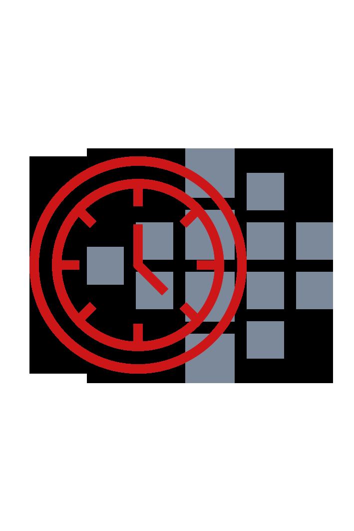 Uhr mit Smart Reporting Logo im Hitergrund
